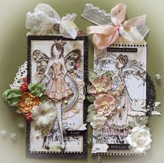 Creative Mayhem: Prima Mixed Media Doll Stamps..Strapless and Swing using Prima Lyric Collection.