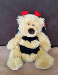 """Russ Berrie Breezy Bear Bumble Bee  CUTE 9 1/2""""   #Russ"""