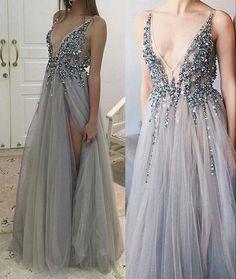 Split Prom Dresses, Sparkly Prom Dresses, V Neck Prom Dresses, Beaded Prom Dress, Prom Dresses Online, Evening Dresses, Wedding Dresses, Bridesmaid Dresses, Formal Dresses