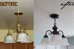 Make any cheap-looking brass fixtures look like oil rubbed bronze. | 33 Ways Spray Paint Can Make Your Stuff Look More Expensive