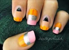Simple back to school nails