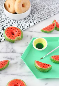 Watermelon Donuts for Summer