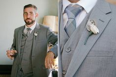 This Elegant, Hollywood-Glam Wedding Will Blow You Away #refinery29  http://www.refinery29.com/100-layer-cake/22#slide8  Groom's Suit: Montefino Uomo; Shoes: Bostonian; Tie: Bar III; Belt: Kenneth Cole Reaction; Cufflinks: BCR Designs; Wedding Band: Jewelry by Johan; Fedora: Bailey of Hollywood.