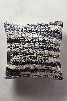 Hand-Knit Shibori Pillow