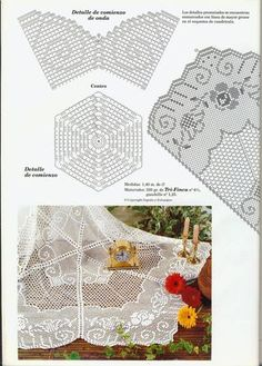 "Photo from album ""Вязание on Yandex. Filet Crochet, Thread Crochet, Crochet Stitches, Tatting Patterns, Doily Patterns, Crochet Patterns, Crochet Tablecloth, Crochet Doilies, Crochet Home"