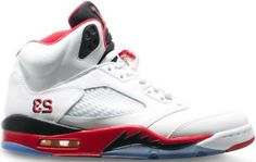 half off 4d195 04cab 36027-120 Air Jordan 5 GS Fire Red (White Fire Red – Black)
