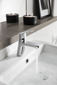 The Kelly Hoppen collection translates elements of Kelly's signature style into a contemporary tap and shower range - KH ZERO 6 Basin Monobloc Tap for Crosswater.ie to view our range.