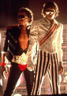 Marlon and Michael, Arrowhead Stadium, Kansas City, MO July 1984.