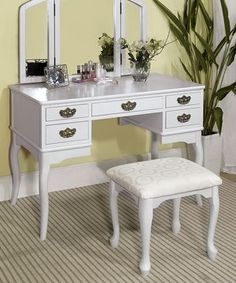 Another great find on #zulily! White Classic Vanity Set by Furniture of America #zulilyfinds