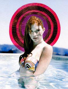 Photography  Illustration by Amandala. Painted Photograph. Alexandravalenti.com  Alyssa Pizer Management #alyssapizermanagement