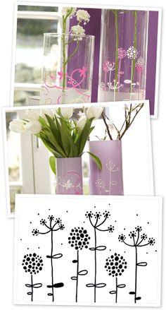 Frühlings-Vasen gestalten – mit edding-Stiften