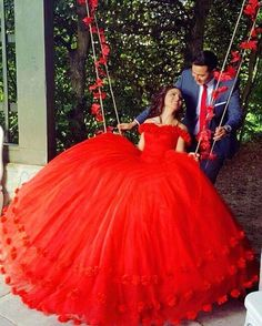 What is the perfect colour for you? Now I am gonna show some perfect colours for everyone. Sweet 16 Dresses, 15 Dresses, Mexican Quinceanera Dresses, Long Gown Dress, Wedding Dresses With Flowers, Red Gowns, Red Ball Gowns, Quince Dresses, Beautiful Dresses
