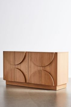 Tabitha Credenza | Urban Outfitters Large Furniture, Custom Furniture, Furniture Design, Furniture Ideas, Urban Outfitters, Wall Mounted Desk, White Oak Wood, Interior Minimalista, Apartment Furniture