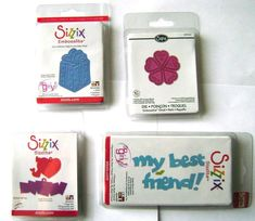 Lot of 4 Brand New SIZZLITS (See Picture) - CLEARANCE - BIG SALE - Cardmaking  #Cuttlebug