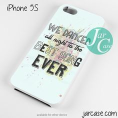One Direction Lyrics We dance all night Phone case for iPhone 4/4s/5/5c/5s/6/6 plus
