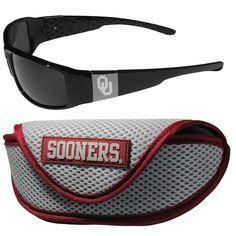 Oklahoma Sooners ... http://www.757sc.com/products/oklahoma-sooners-chrome-wrap-sunglasses-and-sport-carrying-case-sskg?utm_campaign=social_autopilot&utm_source=pin&utm_medium=pin #nfl #mlb #nba #nhl #ncaaa #757sc