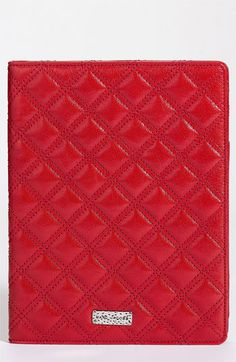 Glossy leather in Hot Red color...I love it! MARC JACOBS 'Baroque' iPad Folder available at Nordstrom