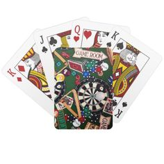 Game Room Billiards Playing Cards   Zazzle.com