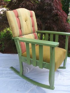 The Stockton Upcycled 1920s Mission Style by VictorianRehabDesign, $307.00  upcycled rocking chair