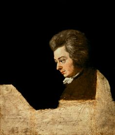 Mozart (unfinished portrait) by Joseph Lange, 1782, brother-in-law of Mozart.