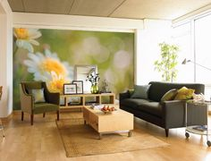 oversized printed wall murals...create your own and paper a wall with it.  some very cool ideas here