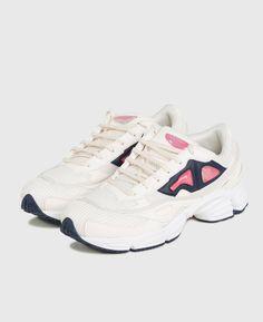 Adidas/Raf Simons Ozweego 2 - Cream White/Bold Pink colorway