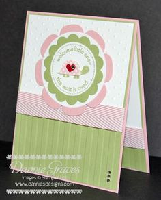 Stampin' Up! Baby Girl Card Worth the Wait