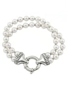 LAGOS Jewelry | Luna Pearl Double Strand Bracelet.