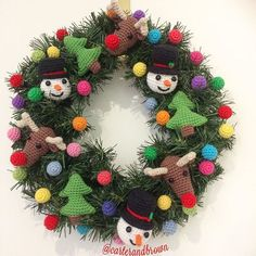 I can't wait any longerI've started decorating for Christmas #crochet #crochetwreath #crochetaddict #crochetreindeer #crochetsnowman #crochechristmastree #christmas #craftastherapy #carterandbrowncrush