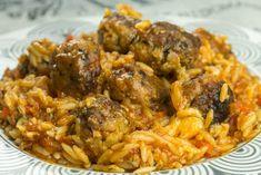 Γιουβετσι με κεφτεδες ιταλικης εμπνευσης Good Food, Yummy Food, Mince Meat, Ground Meat, Orzo, Main Dishes, Rice, Pasta, Chicken