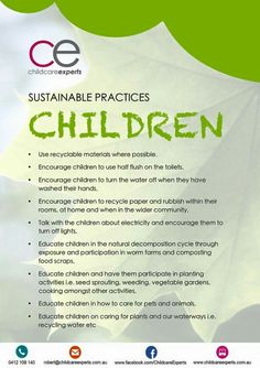 Sustainable practices for children Sustainable Practices, Sustainable Development, Early Education, Early Childhood Education, Sustainability Education, Sustainability Projects, Environmental Education, How To Make Light, Working With Children
