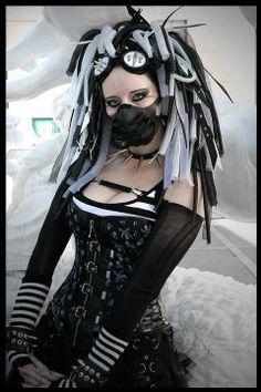 #Cyber_goth_girls