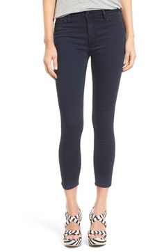 RES Denim 'Kitty' Crop Skinny Jeans (Smokin) $105