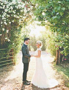 Bride + groom | A Rustic Arizona Wedding at @Matty Chuah Farm at South Mountain | Arizona Bride magazine