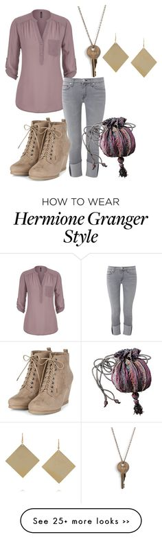 """Hermione (again)"" by annakeath on Polyvore featuring maurices, Hudson, The Giving Keys and Kenneth Jay Lane"