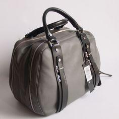 Diesel Soft 1 Black Grey Charcoal Gray Leather Handbag Purse Doctor Bag #Diesel #FashionBag