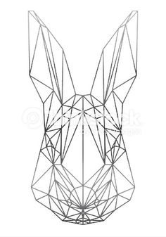 geometric rabbit head - Google Search