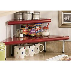 Seventh Avenue 2-Tier Metal Corner Shelf-- i bet i could make that...