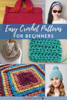 Look no further for the best beginner crochet patterns (and a few video tutorials). This page of 39 Easy Crochet Patterns for Beginners has simple crochet projects for any skill level! Beginner Crochet Tutorial, Beginner Crochet Projects, Quick Crochet, All Free Crochet, Basic Crochet Stitches, Crochet Patterns For Beginners, Crochet Blanket Patterns, Simple Crochet, Crochet Tutorials