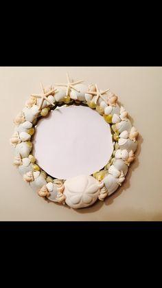 Cape Cod Shell Design handmade sea shell mirror.