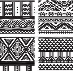 Buy Set of Tribal Texture by on GraphicRiver. Set of tribal texture. Dancing Figures, Macrame Wall Hanging Patterns, Tribal Patterns, African Patterns, African Prints, Background Decoration, Tribal Tattoo Designs, Seamless Textures, Texture Vector
