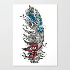 Garden Feather Canvas Print by Himadri Pachori | Society6