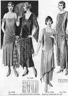 1920s Fashion Women, 30s Fashion, Folk Fashion, Fashion History, Art Deco Fashion, Vintage Fashion, Fashion Design, Fashion Trends, Dress Fashion