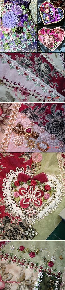 Crazy Quilting What a beauty! Crazy Quilt Stitches, Crazy Quilt Blocks, Patch Quilt, Crazy Quilting, Silk Ribbon Embroidery, Beaded Embroidery, Embroidery Stitches, Hand Embroidery, Quilting Templates