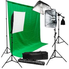 10x20 ft Chromakey Green Screen, Support Stand Kit, 2700W Boom Stand Lighting Kit Green Screen Backgrounds, Elementary Library, Classroom Projects, Video Lighting, Light Hair, Educational Technology, Photo Studio, Projects To Try, Morning News