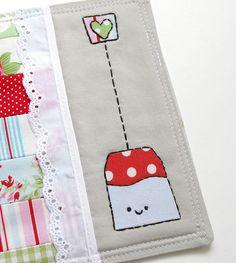 Tea Bag Mug coaster Embroidery