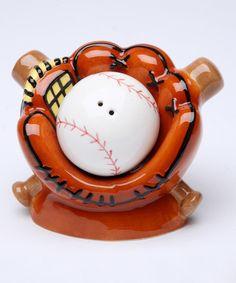 Look at this #zulilyfind! Baseball Salt & Pepper Shakers by Sugar High Social #zulilyfinds