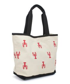 Another great find on #zulily! Natural & Black Lobster Tote #zulilyfinds