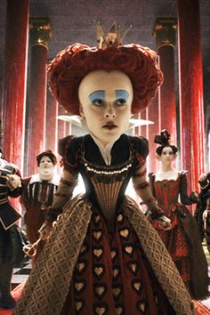 Iracebeth of Crims [a. The Red Queen] (from Alice in Wonderland, Portrayed by Helena Bonham Carter Alice In Wonderland Sign, Alice In Wonderland Costume, Adventures In Wonderland, Helen Bonham, Helena Bonham Carter, Tim Burton, Queen Of Hearts Alice, Queen Alice, Colleen Atwood