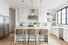 Christine Andrew from Hello Fashion shares her dream kitchen reveal, with full product and construction details, and links to recreate the look. Home Decor Kitchen, Home Kitchens, Kitchen Dining, Kitchen Ideas, Family Kitchen, Design Kitchen, Country Kitchen, Cuisines Design, Beautiful Kitchens